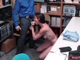 A brunette milf makes a scene in the store to divert the crowds attention so that her thief accomplice can make her way out.Unfortunate,the the ...