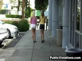"""Watch these two hotties crossing the street are about to take a turn into the """"Pervert Zone"""". They Look both ways but they forgot to ..."""