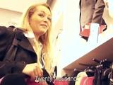 Watch as this pretty blonde babe gets picked up from this mall and sucks this big shaft. She then gets her tight pussy pounded by ...