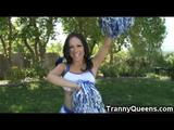 Hot shemale pom pom girl named Celeste shows us her pretty cheerleading tricks and gets sucked and fucked hard by her horny coach! After watching ...